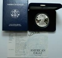 2003-W 1 OZ 999 SILVER DCAM PROOF US COIN AMERICAN SILVER EAGLE DOLLAR W/COA&BOX