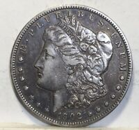 1902 P MORGAN SILVER DOLLAR X F COIN SHOWN 288 SHIPPING $ ON FIRST COIN ONLY