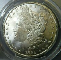 1885 CC PCGS MINT STATE 63 MORGAN DOLLAR BLAST WHITE CARSON CITY IN GREAT CONDITION PLUS