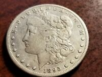 1895 S MORGAN SILVER DOLLAR,  TOUGH KEY DATE      INV09    S907