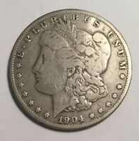 1904-S MORGAN SILVER DOLLAR VG CLEANED 11646