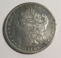 1892-S MORGAN SILVER DOLLAR VF CLEANED 11649 SMALL OBV. EDGE NICK.