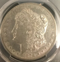 1879 S REVERSE OF 78 MORGAN DOLLAR PCGS AU 53