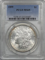 1899 MORGAN DOLLAR - PCGS MINT STATE 65 WHITE