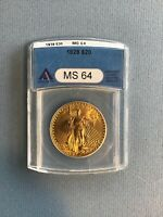 1928 $20 GOLD DOUBLEEAGLE MS64