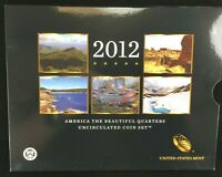 2012 AMERICA THE BEAUTIFUL UNCIRCULATED QUARTERS COIN SET WI