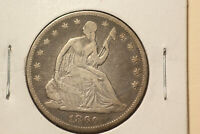 1860 SEATED LIBERTY SILVER HALF DOLLAR