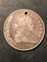 1801 DRAPED BUST DOLLR EXTRA FINE  HOLED SUPER PLEASING COLOR