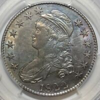 1822 50C, CAPPED BUST, EARLY DATE, PCGS GENUINE SCRATCH - AU DETAIL, OVERTON 108