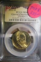 2012-P GROVER CLEVELAND ERROR LABEL PCGS MINT STATE 68 TOP POP POS.B