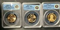 2009 ANACS W.H. HARRISON 3 COIN SET S,P,D PR70 & MINT STATE 67 LIMITED EDITION 18,000