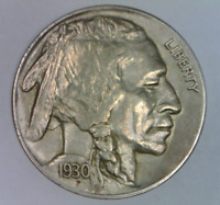1930 S BUFFALO NICKEL ALMOST UNCIRCULATED FIVE CENTS UNITED STATES BISON 5 C 2