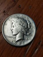 1921 P PEACE SILVER DOLLAR HIGH RELIEF