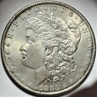1883-O/O MORGAN SILVER DOLLAR NEAR GEM UNCIRCULATED VAM-4 RPM VARIETY $1 COIN