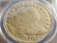 1803 BUST SILVER DOLLAR, ANACS DAMAGED, VG 10 DETAILS     INV09    S911C