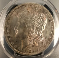 1903 O MORGAN DOLLAR PCGS MINT STATE 64 TONED