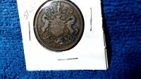 1841 R & I S RUTHERFORD HALF PENNY TOKEN NEWFOUNDLAND CANADA