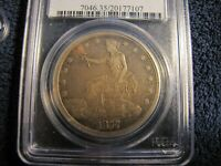 PCGS VF35 1877 S TRADE DOLLAR OUTSTANDING MID GRADE EXAMPLE