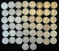 ROLL OF  50  SILVER ROOSEVELT DIMES .