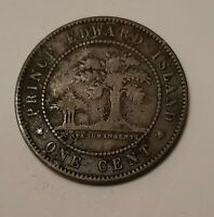 1871 PRINCE EDWARD ISLAND LARGE ONE CENT COIN   QUEEN VICTOR