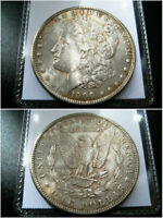 1900 P MORGAN SILVER DOLLAR CHOICE  AU COIN ORIGINAL TONED