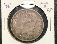 1811 SMALL 8  CAPPED BUST HALF DOLLAR NICE ORIGINAL PERFECT