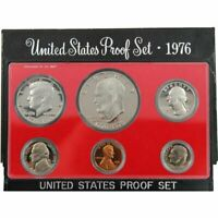1976 S PROOF SET UNITED STATES US MINT ORIGINAL GOVERNMENT PACKAGING BOX IKE $