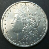 1900-P $1 US MINT SILVER 90 MORGAN DOLLAR US COIN V1077