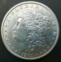 1901-O $1 US MINT SILVER 90 MORGAN DOLLAR US COIN V1080