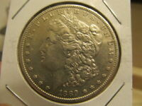 SHARP AU 1889-S MORGAN DOLLAR  LOW MINTAGE