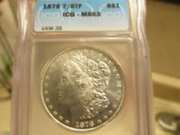 ICG MINT STATE 63 1878
