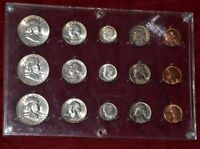 1954 P D S CHOICE UNCIRCULATED BU MINT SET IN OLD SEITZ PLAS