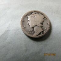 1916 D MERCURY DIME   THE KEY COIN TO THE SET   SHARP CLEAR