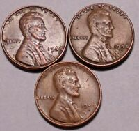 1948 P 1948 D 1948 S LINCOLN WHEAT CENT PENNY -  3 COINS  - SHIPS FREE