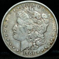 1901-S $1 MORGAN SILVER DOLLAR  EXTRA FINE  EXTRA FINE DETAILS  S$1  NOW TRUSTED