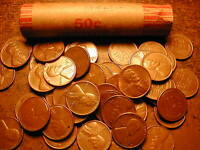 1954-S LINCOLN WHEAT CENT ROLL,  CONDITION