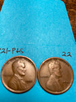 1921-S & 1921-P LINCOLN WHEAT CENT SET,  HIGH GRADE CONDITION COINS, SET 22