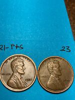 1921-S & 1921-P LINCOLN WHEAT CENT SET,  HIGH GRADE CONDITION COINS, SET 23