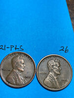 1921-S & 1921-P LINCOLN WHEAT CENT SET,  HIGH GRADE CONDITION COINS, SET 26