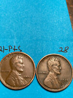 1921-S & 1921-P LINCOLN WHEAT CENT SET,  HIGH GRADE CONDITION COINS, SET 28
