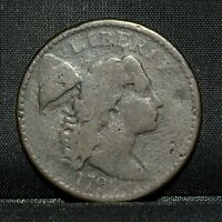 1794 LARGE CENT  VG  GOOD  1C FLOWING HAIR  NOW DETAILS G22 TRUSTED