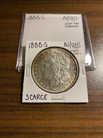 1888-S MORGAN SILVER DOLLAR $1 ALMOST UNCIRCULATED/UNCIRCULATED LIGHT CLEANING