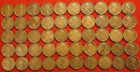 1910-1919 ALL P MINT 5 EACH YEAR LINCOLN WHEAT CENT PENNY 50 COIN ROLL R3