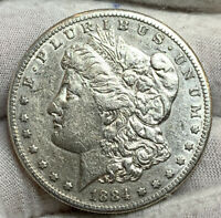 1884-S MORGAN SILVER DOLLAR EXTRA FINE  DETAIL CLND SOME LUSTER KB2931