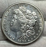 1883-S MORGAN SILVER DOLLAR EXTRA FINE  DETAIL CLND TOUGHER IN HIGHER GRADES