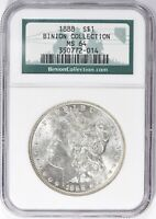 1888 MORGAN SILVER DOLLAR  NGC MINT STATE 64  BINION COLLECTION  BETTER DATE