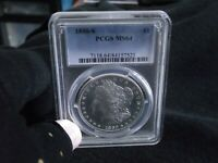 1880-S PCGS- MINT STATE 64 PL?  MORGAN SILVER  WHITE FROSTY LUSTER