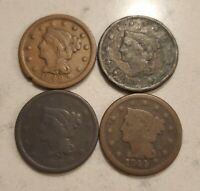 1840S LARGE CENT  4  COIN LOT