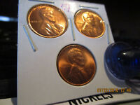 1951 P-D-S LINCOLN CENTS MINT STATE