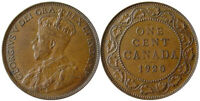 1920   CANADA LARGE CENT COIN.GEORGE V AG  GRADE      WKLY SPECIAL